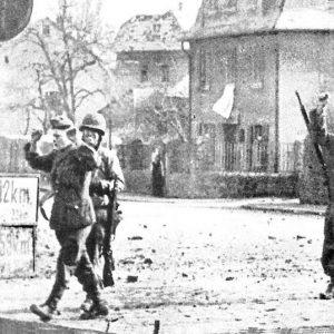 Einmarsch der Amerikaner in Wetzlar am 27. März 1945.